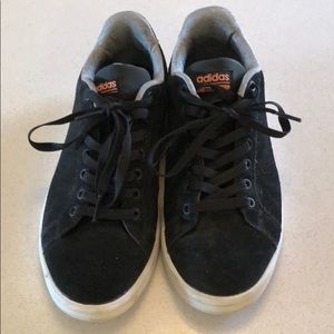 Adidas size 7.5 low tops - black suede